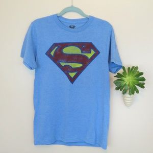 Retro Style Blue Superman T-Shirt S